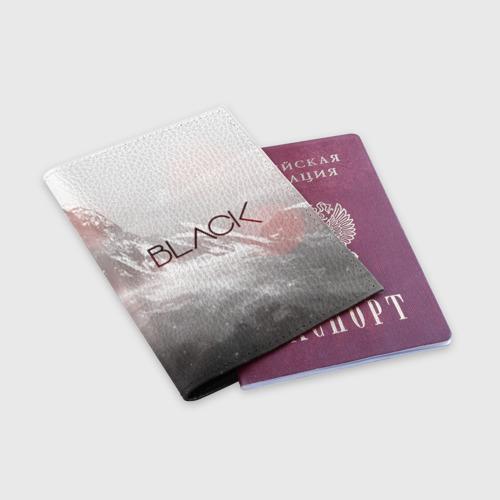 Обложка для паспорта матовая кожа BLACK Фото 01