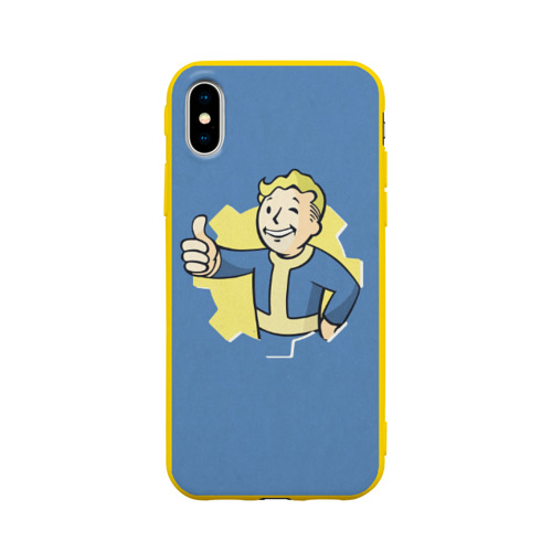 Чехол для iPhone X матовый Fallout Фото 01