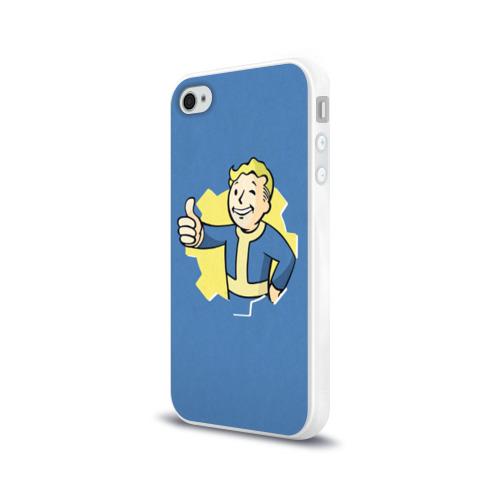 Чехол для Apple iPhone 4/4S силиконовый глянцевый Fallout Фото 01