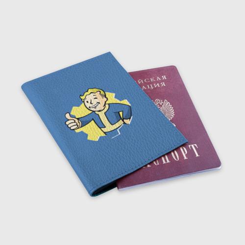 Обложка для паспорта матовая кожа Fallout Фото 01