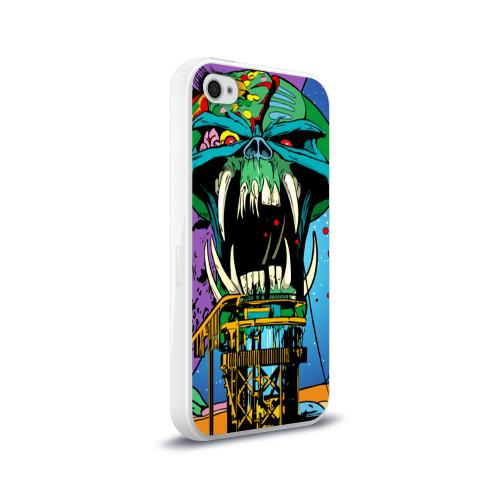 Чехол для Apple iPhone 4/4S силиконовый глянцевый  Фото 02, Alien