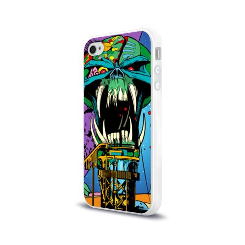 Чехол для Apple iPhone 4/4S силиконовый глянцевый  Фото 03, Alien