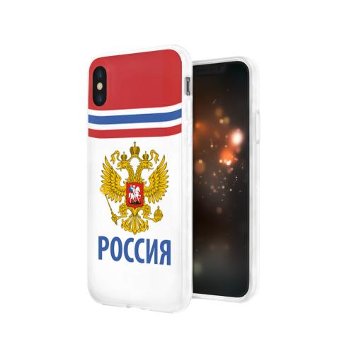 Чехол для Apple iPhone X силиконовый глянцевый  Фото 03, Путин