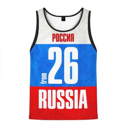 Мужская майка 3D Russia (from 26)