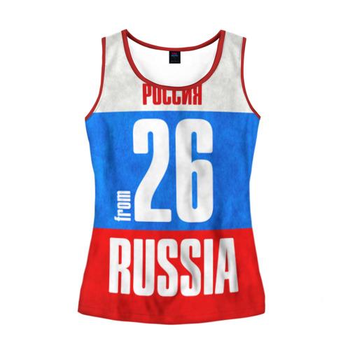 Женская майка 3D Russia (from 26)