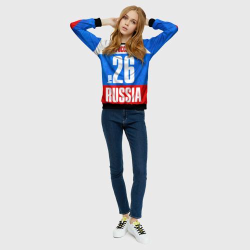 Женский свитшот 3D Russia (from 26)
