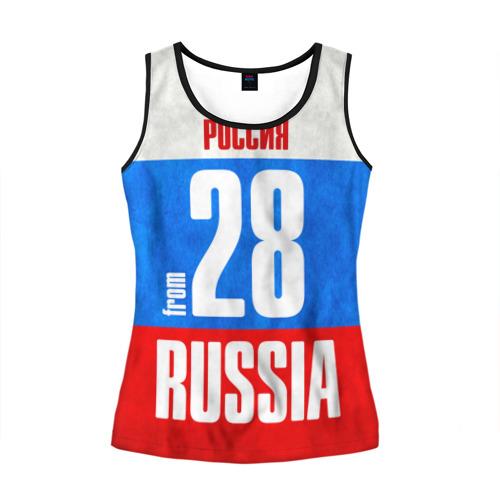 Женская майка 3D Russia (from 28)