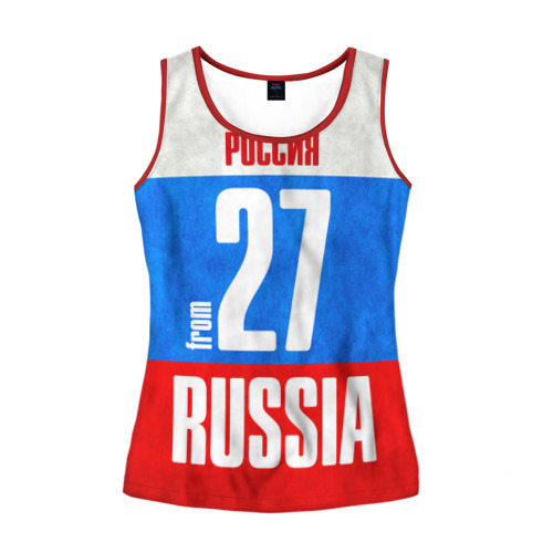 Женская майка 3D Russia (from 27)