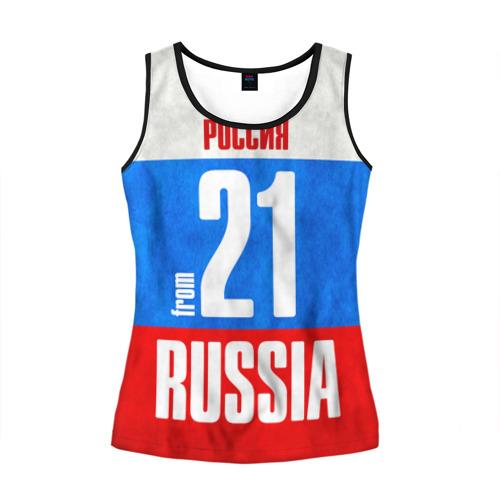 Женская майка 3D Russia (from 21)