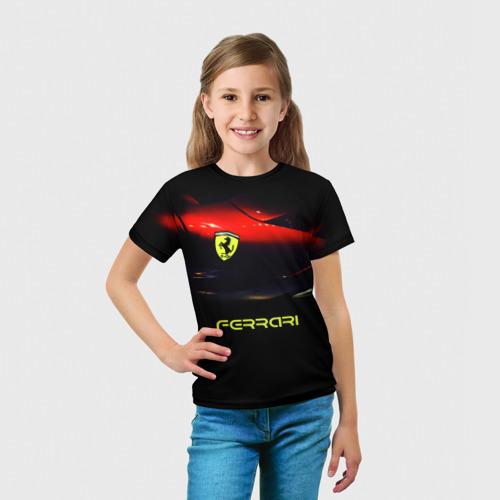 Детская футболка 3D  Фото 03, Феррари