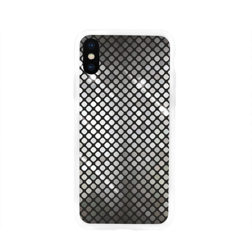 Чехол для Apple iPhone X силиконовый глянцевый  Фото 01, Silver style