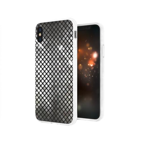 Чехол для Apple iPhone X силиконовый глянцевый  Фото 03, Silver style