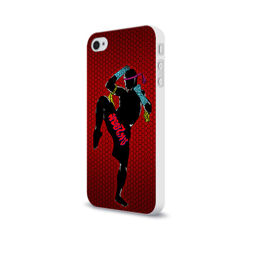 Чехол для Apple iPhone 4/4S soft-touch  Фото 03, Muay thai 1