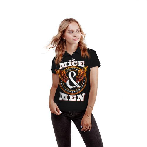 Женская рубашка поло 3D  Фото 03, Of Mice & Men