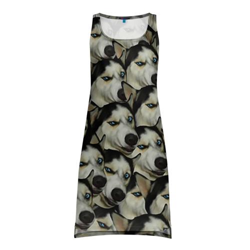 Платье-майка 3D Хаски