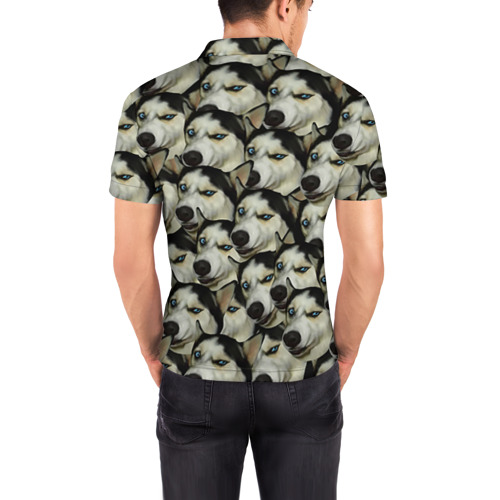 Мужская рубашка поло 3D  Фото 04, Хаски