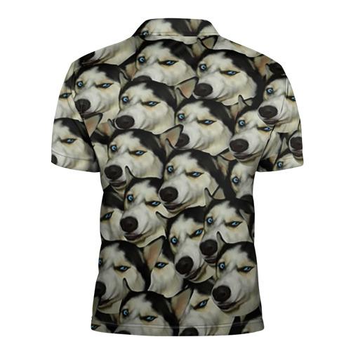 Мужская рубашка поло 3D  Фото 02, Хаски