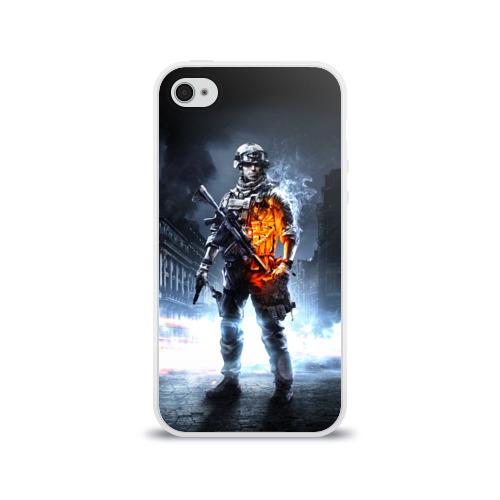 Чехол для Apple iPhone 4/4S силиконовый глянцевый Battlefield Фото 01
