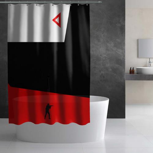 Штора 3D для ванной awp cs go Фото 01