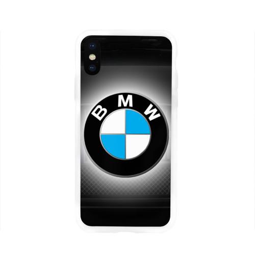 Чехол для Apple iPhone X силиконовый глянцевый  Фото 01, BMW