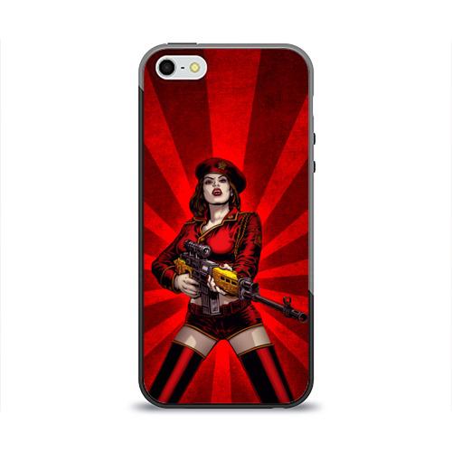 Чехол силиконовый глянцевый для Телефон Apple iPhone 5/5S Red alert от Всемайки