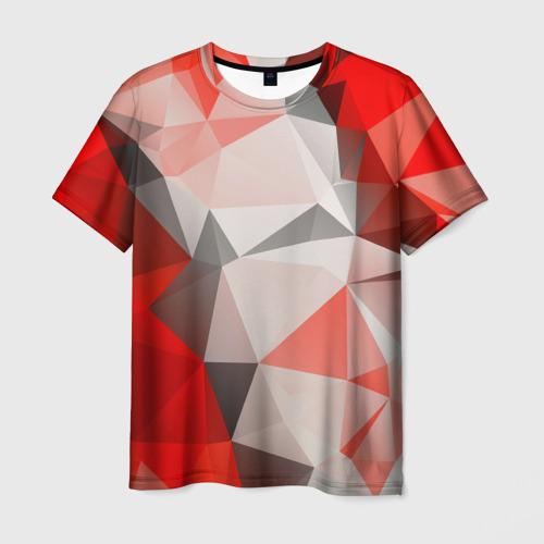 Мужская футболка 3D Грани