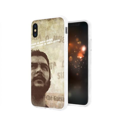 Чехол для Apple iPhone X силиконовый глянцевый  Фото 03, Че Гевара