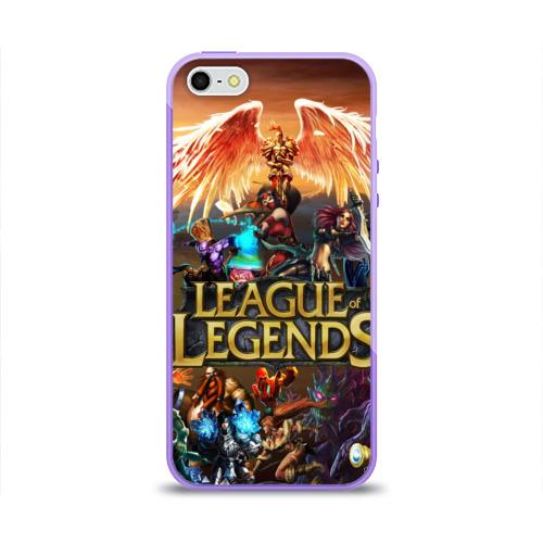 Чехол для Apple iPhone 5/5S силиконовый глянцевый  Фото 01, League of legends all
