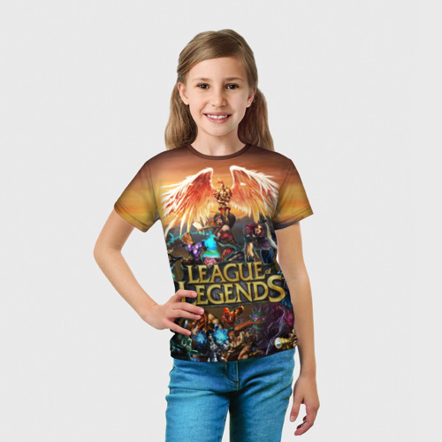Детская футболка 3D  Фото 03, League of legends all
