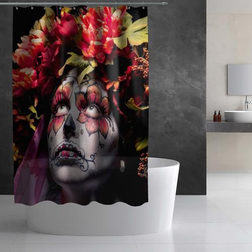Штора 3D для ванной  Фото 02, Боди-арт