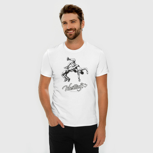 Мужская футболка премиум  Фото 03, Wrestling 2