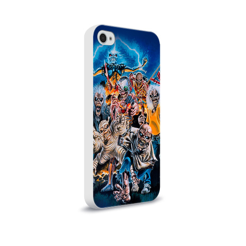 Чехол для Apple iPhone 4/4S soft-touch  Фото 02, Iron maiden 1