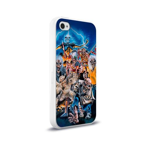 Чехол для Apple iPhone 4/4S силиконовый глянцевый  Фото 02, Iron maiden 1