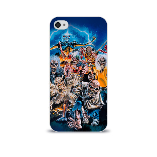 Чехол для Apple iPhone 4/4S soft-touch  Фото 01, Iron maiden 1