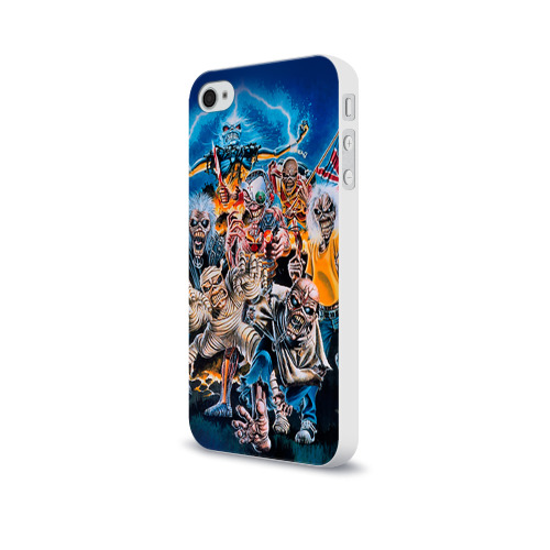 Чехол для Apple iPhone 4/4S soft-touch  Фото 03, Iron maiden 1
