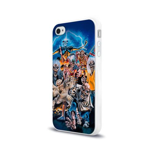 Чехол для Apple iPhone 4/4S силиконовый глянцевый  Фото 03, Iron maiden 1