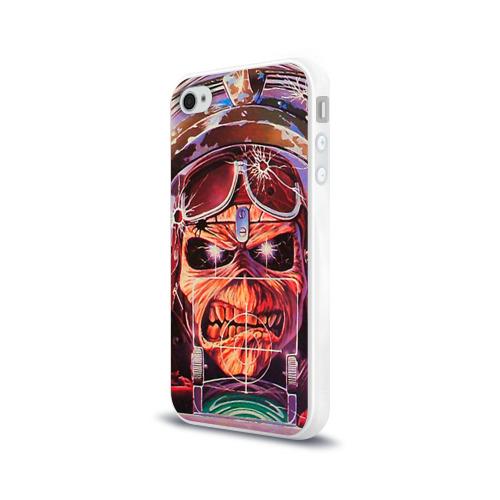 Чехол для Apple iPhone 4/4S силиконовый глянцевый  Фото 03, Iron maiden 2