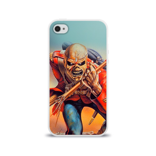 Чехол для Apple iPhone 4/4S силиконовый глянцевый  Фото 01, Iron maiden 5