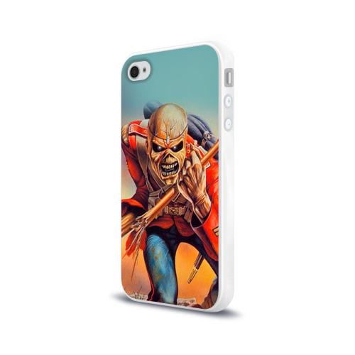 Чехол для Apple iPhone 4/4S силиконовый глянцевый  Фото 03, Iron maiden 5