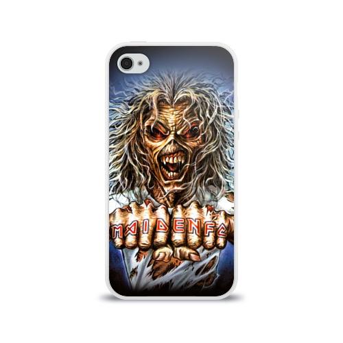 Чехол для Apple iPhone 4/4S силиконовый глянцевый  Фото 01, Iron maiden 6