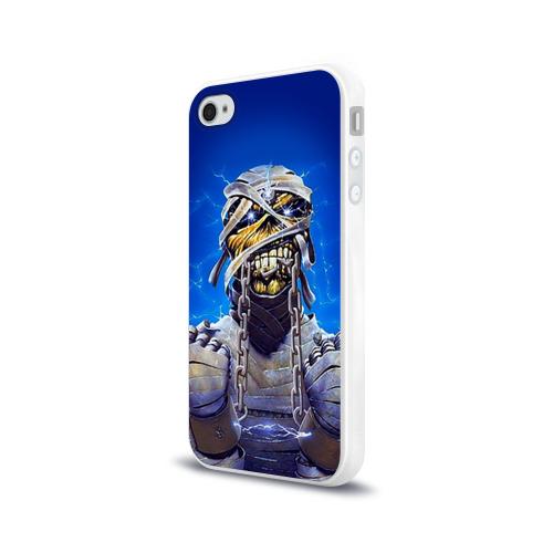 Чехол для Apple iPhone 4/4S силиконовый глянцевый  Фото 03, Iron maiden 7