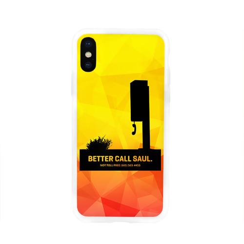 Чехол для Apple iPhone X силиконовый глянцевый  Фото 01, Better call Saul 2