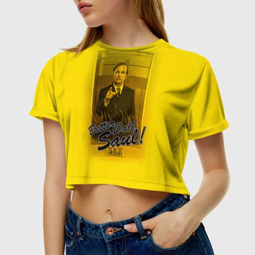Женская футболка 3D укороченная  Фото 01, Better call Saul 5
