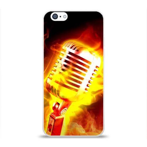 Чехол для Apple iPhone 6 силиконовый глянцевый  Фото 01, Микрофон