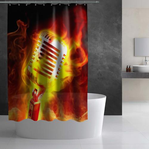 Штора 3D для ванной  Фото 03, Микрофон