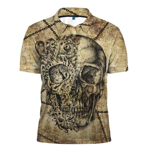 "049329ea71c4e Мужская футболка 3D с принтом или надписью ""Skull & Chains ..."