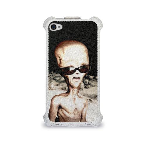 Чехол для Apple iPhone 4/4S flip  Фото 01, Пришелец