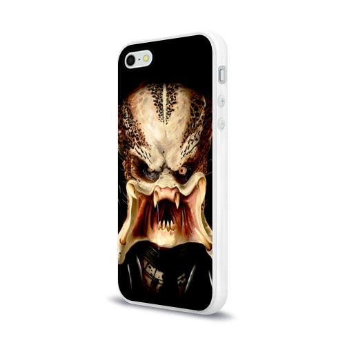 Чехол для Apple iPhone 5/5S силиконовый глянцевый  Фото 03, Пришелец
