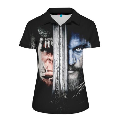 Женская рубашка поло 3D  Фото 01, Warcraft 3