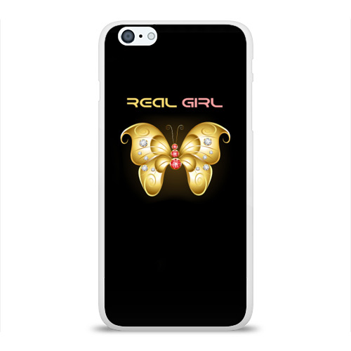 Чехол для Apple iPhone 6Plus/6SPlus силиконовый глянцевый  Фото 01, Real girl
